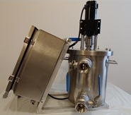 AD-20 portable digester - picture of the model with a beige background