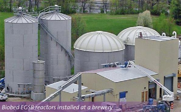 Veolia - Biothane UASB - Biobed EGSB reactors installed at a brewery