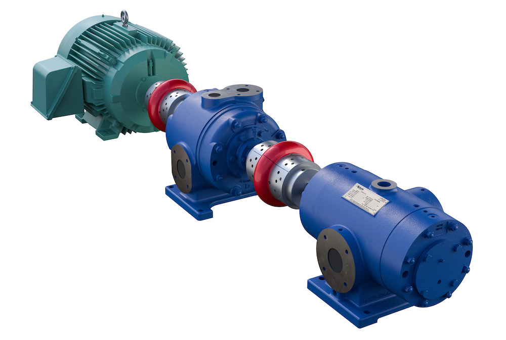Ro-Flo Compressors - Two Stage Gas Compressor System on One Drive - Ro-Flo Rotary Sliding Vane Compressors