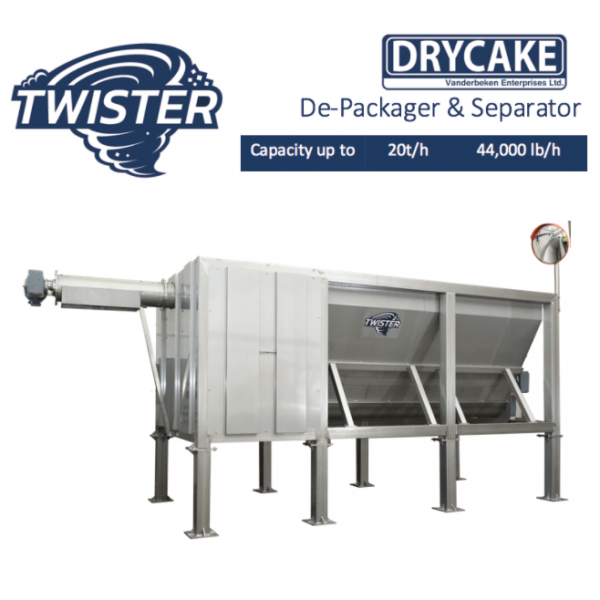Drycake Twister - Depackager & separator