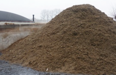 Methanisation dry digestate
