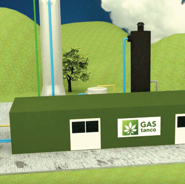 GAStanco - Biogas upgrading based on the pressurized water scrubber