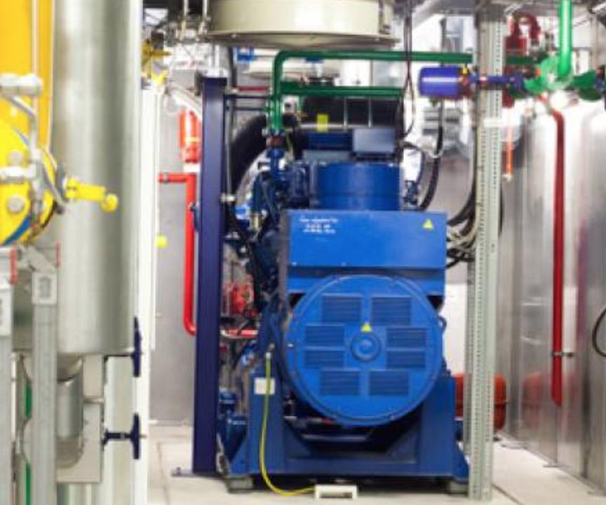 MWM - biogas CHP plant