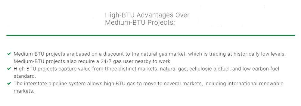 High-BTU Landfill Gas Treatment VS Medium BTU