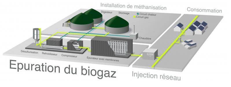 Les standards de qualité du biométhane pour son injection en Amérique du Nord - Procédés pour l'épuration du biogaz