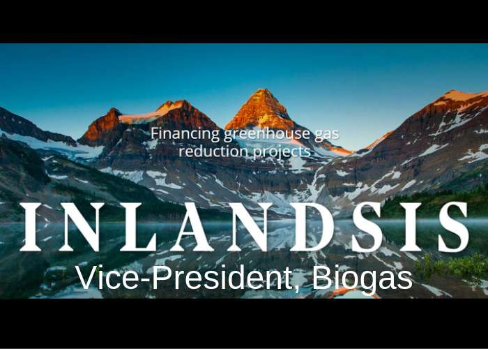 biogas job: Inlandsis Fund is looking for a Vice-President, biogas
