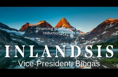 Emploi en biogaz: Fonds Inlandsis recherche un vice-président, biogaz
