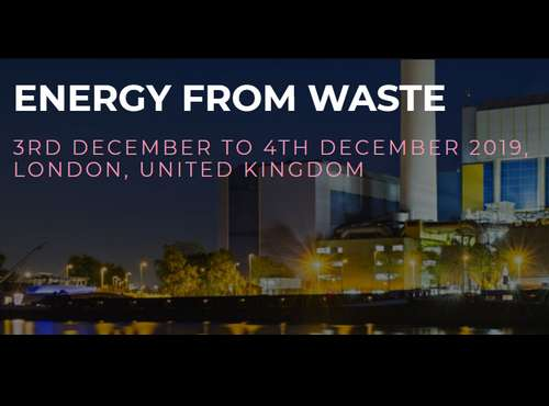 Press release - SMi Group are proud to announce that registration has opened for the 12th Annual Energy from Waste conference, taking place on 3rd - 4th December in London.