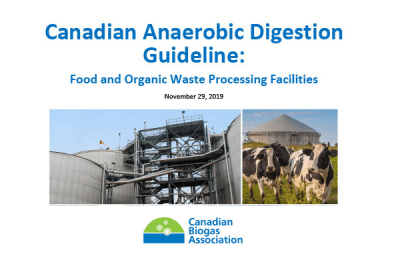 The Canadian Biogas Association releases the first national Anaerobic Digestion Guideline in Canada