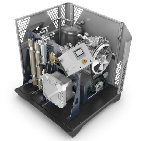 BAUER CNG Compressor Systems- BAUER Micro Series C120 example