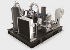 Photo du compresseur pour le biogaz de la ferme Clover Hill par BAUER Compressors