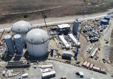 Photo de l'installations de Rialto Bioenergy réalisée par Anaergia - Système biométhanisation - Fournisseurs technologies biogaz