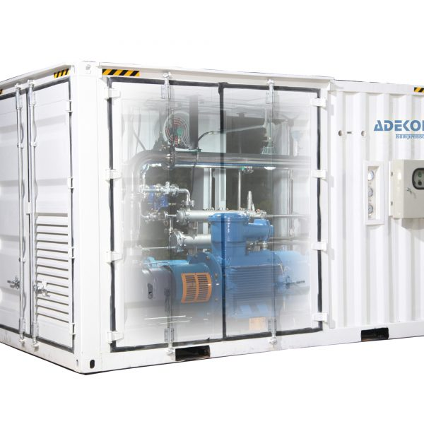 Containerized Biogas Screw Compressor