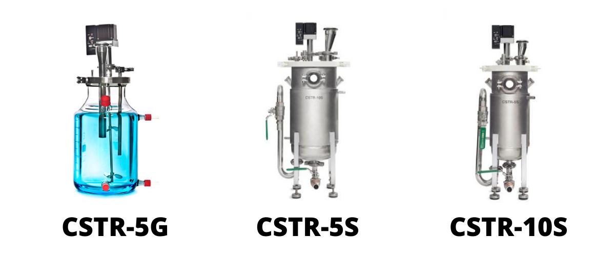 (From left to right: CSTR-5G, CSTR-5S and CSTR-10S bioreactors)