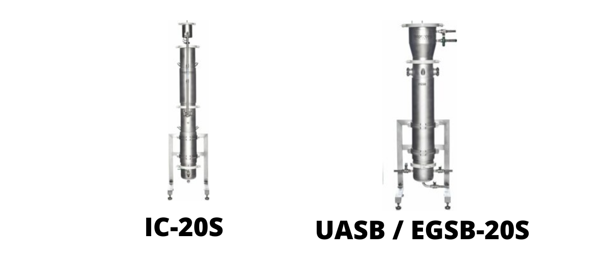 (From left to right: IC-20S and UASB/EGSB-20S bioreactors)